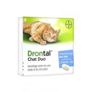 Drontal Chat Duo Boîte de 4 comprimés
