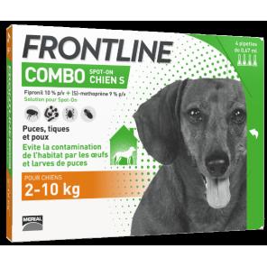 Frontline Combo pour chien de 2 à 10kg 4 pipettes (S)