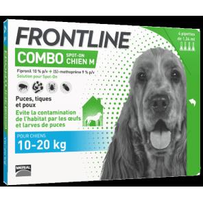 Frontline Combo pour chien de 10 à 20kg 4 pipettes (M)