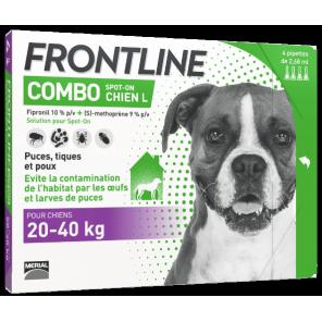 Frontline Combo pour chien de 20 à 40kg pipettes (L)