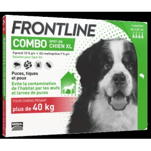 Frontline Combo Chien XL 40 à 60 kg 4 Pipettes (XL)