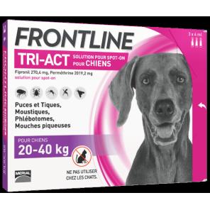 Frontline Tri-Act Chiens 20 à 40 Kg Pipettes