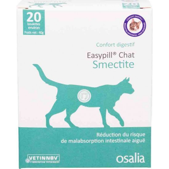 Easypill Smectite Chat boulettes 20 sachets
