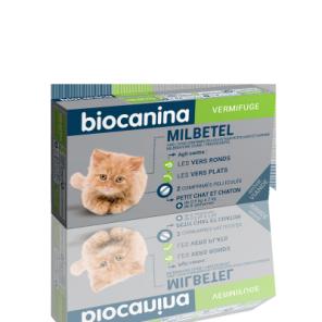 Milbetel Biocanina Vermifuge Petits Chats Chatons 2 Comprimés