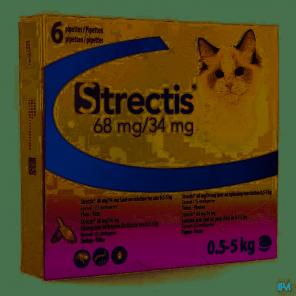 STRECTIS 68 MG / 34 MG Chat 0.4 à 5 Kg
