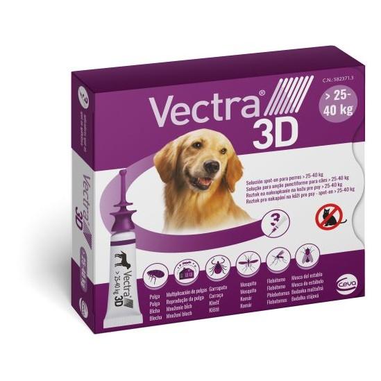 Vectra 3D Pipettes Chien 25 à 40 Kg