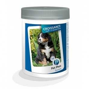 Pet Phos canin Croissance Ca/P 2 grands chiens Boite de 100 cp