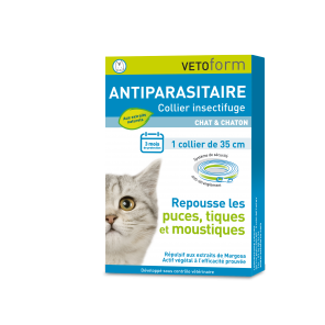 Collier Insectifuge Naturel Vetoform Chat et Chaton