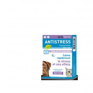Vetoform Comprimés anti-stress pour CHIEN & CHAT 20 Comprimés