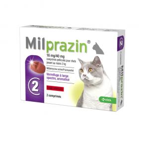 Milprazin vermifuge chats