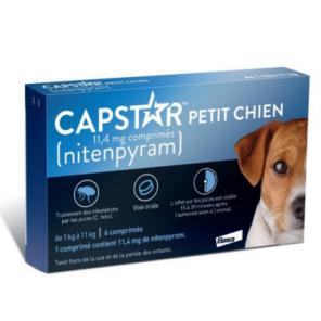 Capstar (11.4mg) comprimés anti-puces petits chiens 1 à 11 Kg