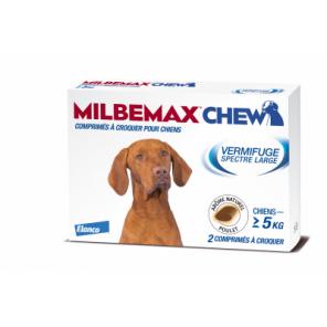Milbemax chew vermifuge pour chiens plus 5 kilos