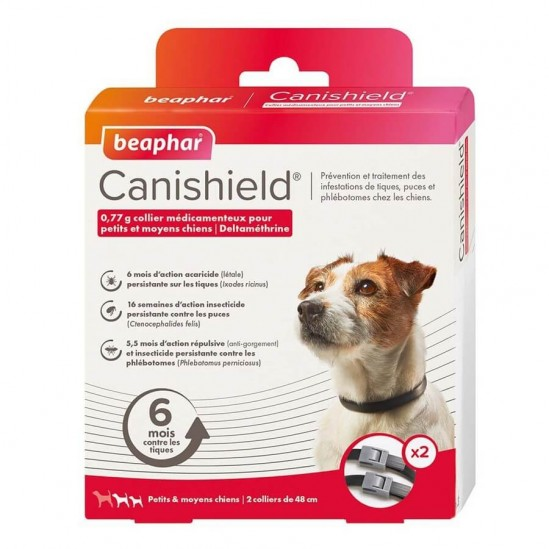 BEAPHAR Canishield Collier Petits Et Moyens Chiens 2 Colliers