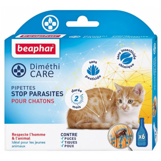 BEAPHAR DIMÉTHICARE STOP PARASITES CHATONS 6 PIPETTES