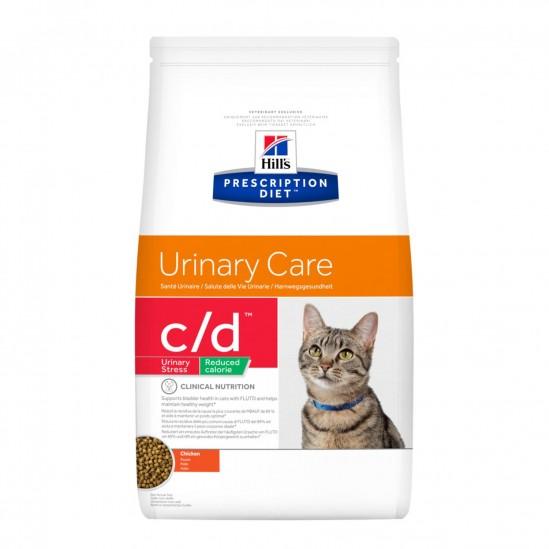 Hill's™ Prescription Diet™ c/d™ Urinary Stress Reduced Calorie Feline Poulet 1,5kg, 4kg ou 8 kg
