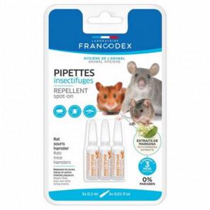 Francodex insectifuges Repellent spot-on 3x0.3ml