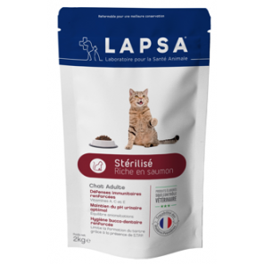 Lapsa chat adulte stérilisé riche en saumon 2kg