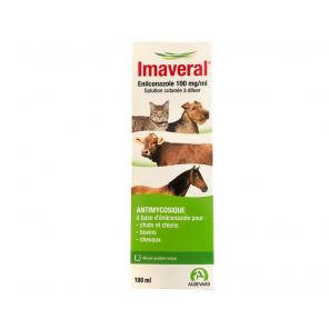 Imaveral antimycosique cutané chien, chat, chevaux (100ml)