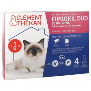 Fiprokil duo chat 4 pipettes - photo non contractuelle