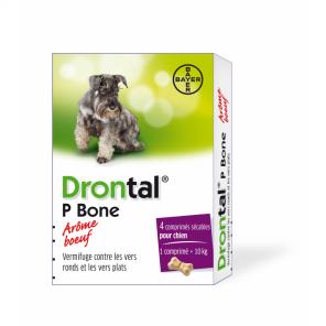 Drontal - vermifuge bayer pour chien goût viande 4 comprimés