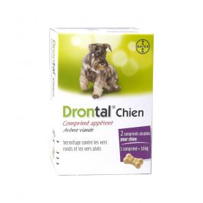 Drontal - vermifuge bayer pour chien goût viande 2 comprimés